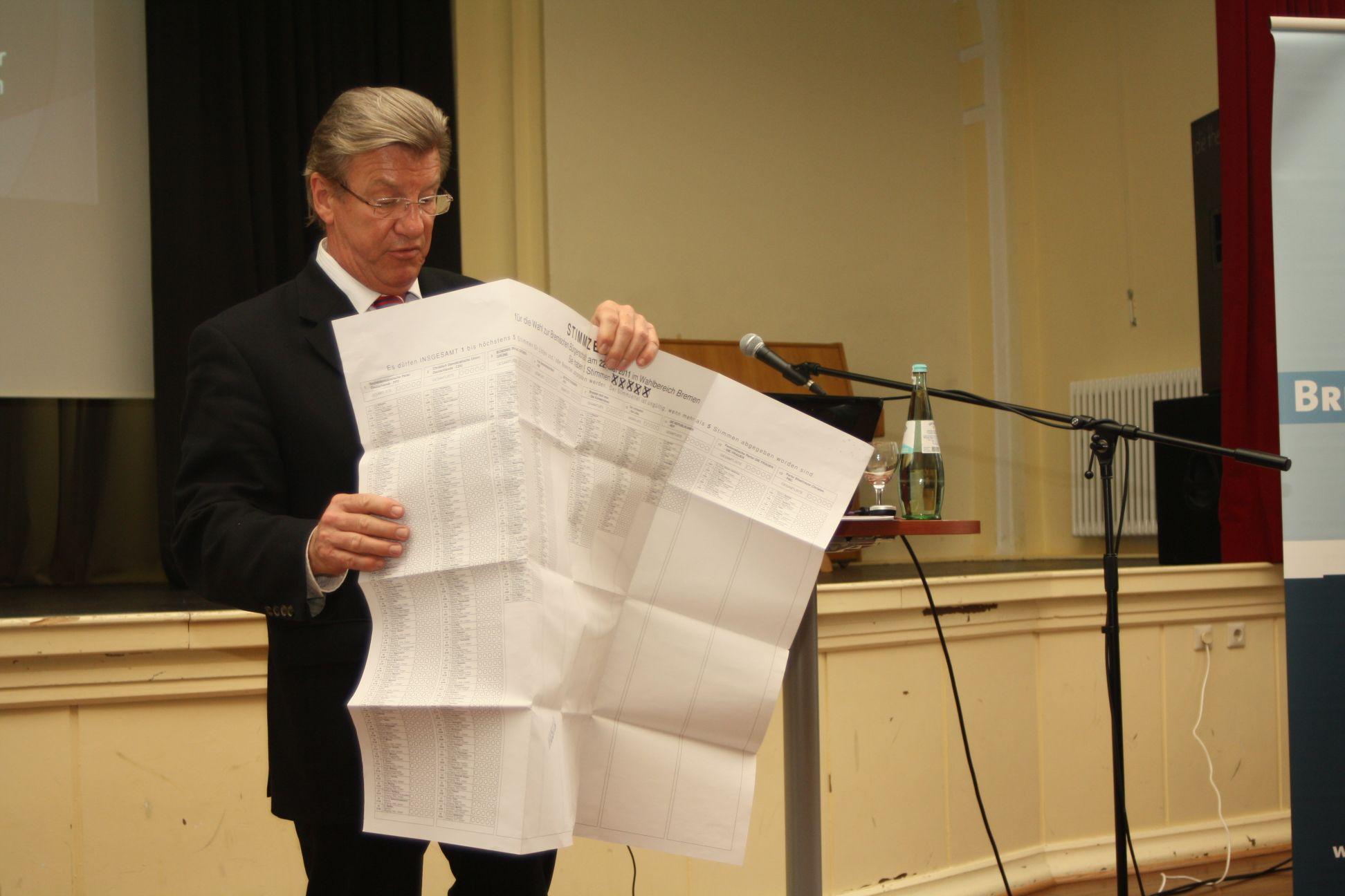 Informationen zum neuen Wahlrecht werden Ihnen vom Amtsgerichtspräsidenten, Uwe Lissau, näher erläutert